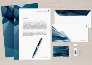 diseño de logotipo e Imagen Corporativa Para Empresas Santander