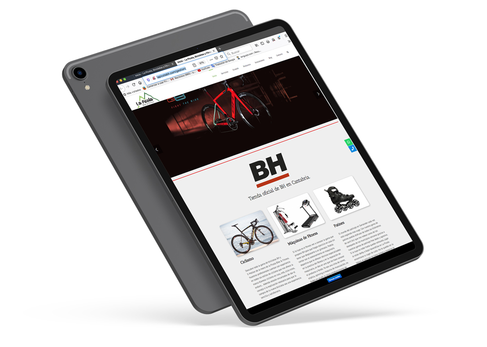 trabajo de diseño web de tienda online de bicicletas
